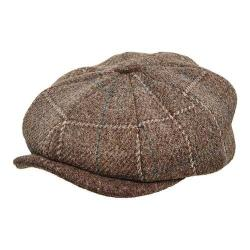 Men's Stetson STW250 Newsboy Cap Brown