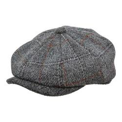 Men's Stetson STW250 Newsboy Cap Grey