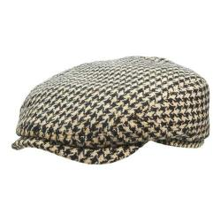 Men's Stetson STW269 Houndstooth Flat Cap Black/White