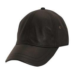 Men's Stetson STW510 Leather Baseball Cap Black