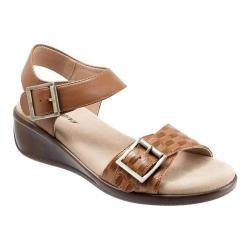 Women's Trotters Eden Quarter Strap Sandal Cognac Leather