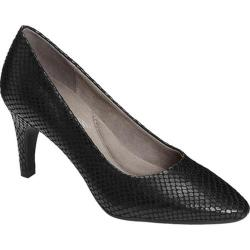 Women's Aerosoles Exquisite Black Snake Printed Leather