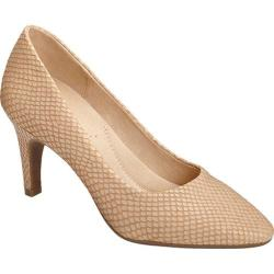 Women's Aerosoles Exquisite Light Tan Snake Printed Leather