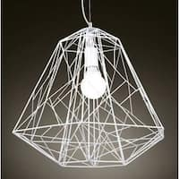 Cage-style 1-light Geometric Pendant - N/A