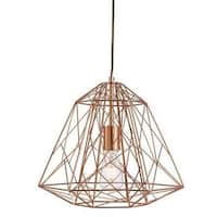 Single Cage 1-Light Geometric Pendant - N/A