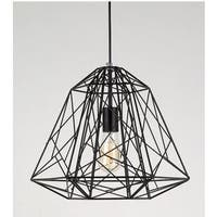 Single Cage 1-Light Geometric Pendant