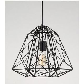 Single Cage 1-Light Geometric Pendant