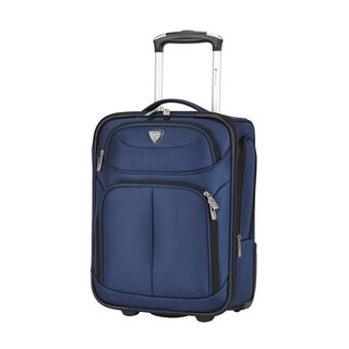 Travelers Club Hartford 17-inch Carry On Rolling Understeater Suitcase