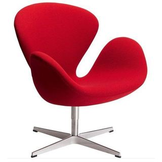 Swan Red Armchair