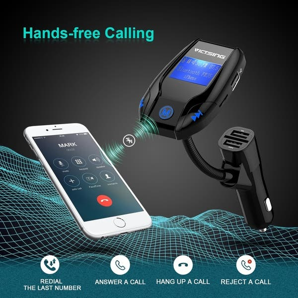 FM Transmitter TF Card /&U-Disk Reading Applicable for All Smart Phones -Black Stereo 4 Modes Music Play LDesign Bluetooth Wireless in-Car FM Radio Adapter Car Kit with Hand Free Call