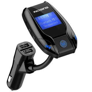 FM35 Bluetooth FM Transmitter, Wireless In-Car FM Transmitter Radio Adapter Car Kit with 3 USB Ports