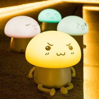 Cute Atmosphere Silicone Soft Control LED Touch Lamp Kids Night Light (Option: Yellow)