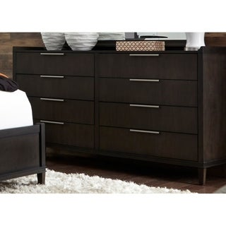 Tivoli Satin Charcoal 8-Drawer Dresser
