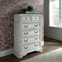Magnolia Manor Antique White 5-Drawer Chest