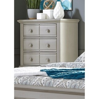 Summer House II Washed Gray 5 Drawer Chest