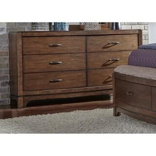 Copper Grove Nikopol Pebble Brown 6-drawer Dresser