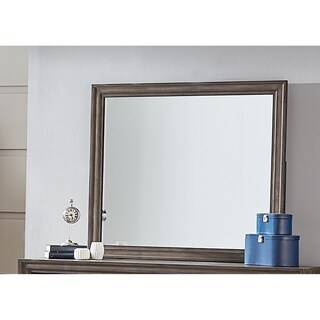 Clarksdale Walnut Rectangular Mirror - Brown
