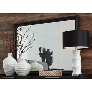 Tivoli Charcoal Rectangular Mirror - Black