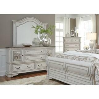 Magnolia Manor Antique White 4-Drawer 2-Door Dresser