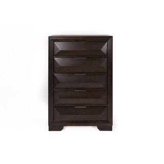 Newland Cappuccino Contemporary 5-Drawer Chest