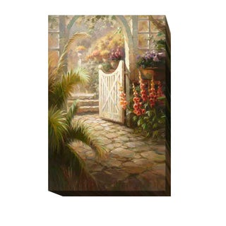 Mornng in the Garden by Roberto Lombardi Gallery-Wrapped Canvas Giclee Art