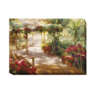 Roberto Lombardi 'Shaded Glen' Gallery-wrapped Canvas Giclee Art