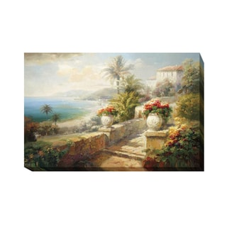 Capri Villa by Roberto Lombardi Gallery-Wrapped Canvas Giclee Art