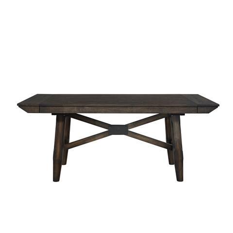 Double Bridge Dark Chestnut 36x96 Trestle Table