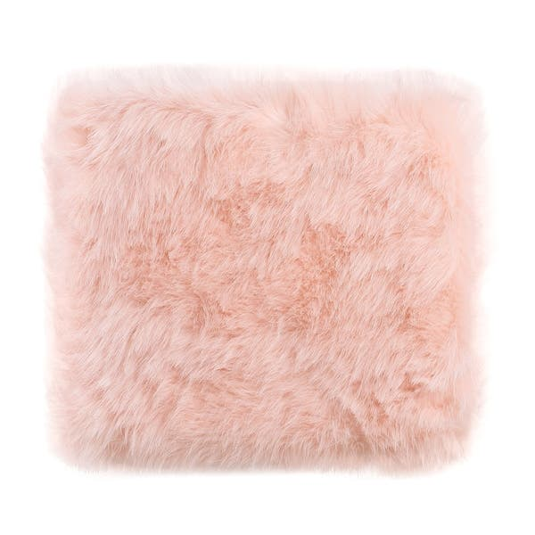 Pleasant Shop Silver Orchid Kelly Square White Faux Fur Poof On Short Links Chair Design For Home Short Linksinfo