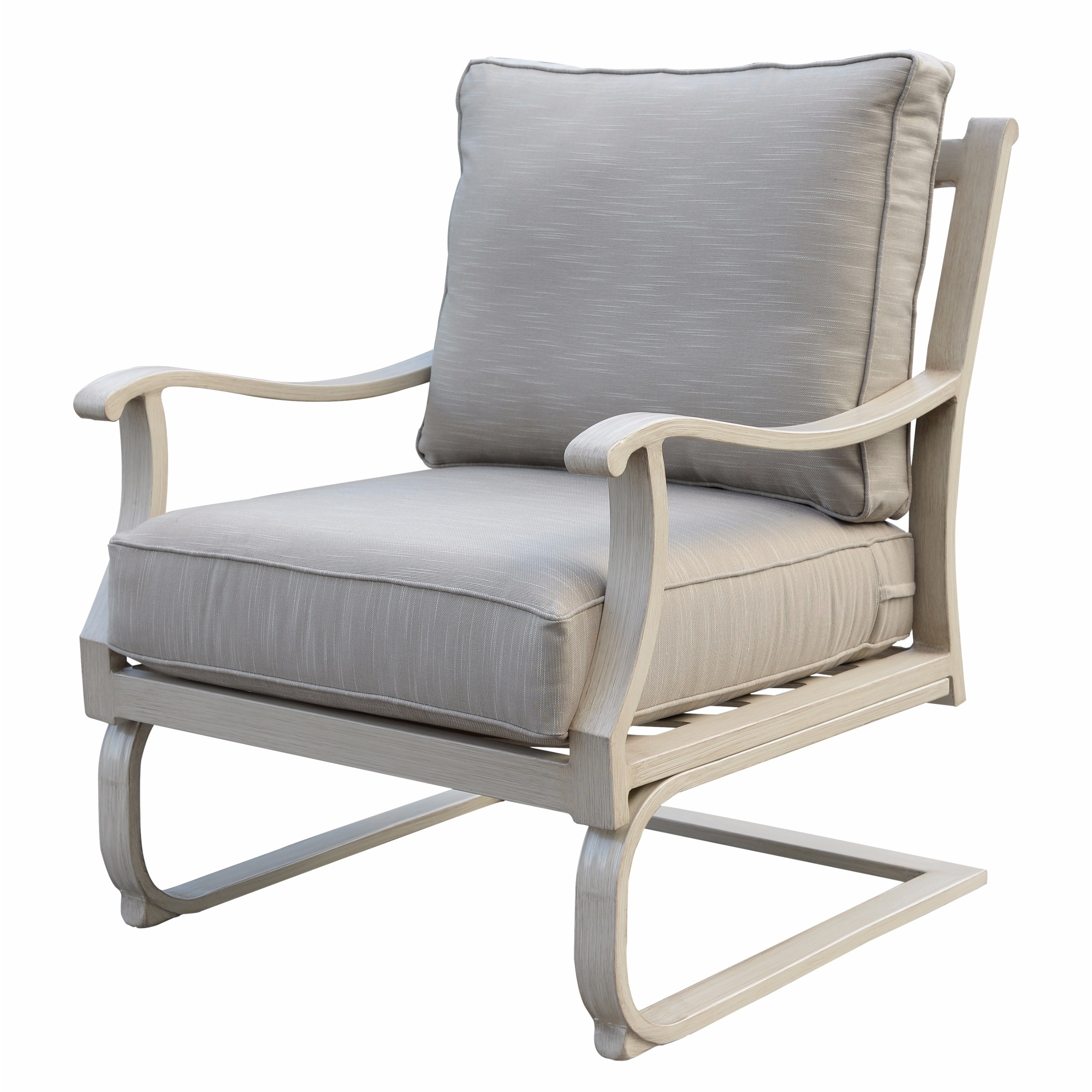 Aluminum Outdoor C Spring Club Chair