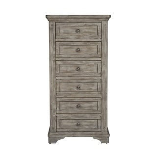 Highlands Gravel Solid Pine 6-Drawer Lingerie Chest