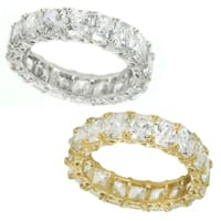 Michael Valitutti 14K White/Yellow Gold Princess Cut Cubic Zirconia Eternity Band Ring - White