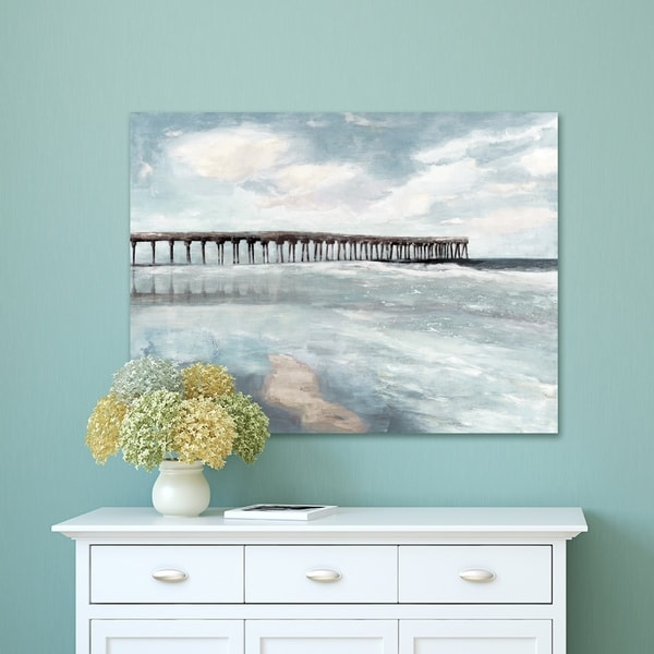 Portfolio Canvas Decor Coastal Hush II Light Canvas Wall Art