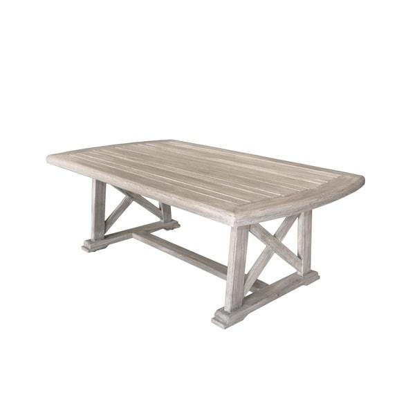 Grey Teak Coffee Table: Shop Havenside Home Surfside Driftwood Grey Teak Deck