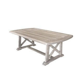 Courtyard Casual Driftwood Gray Teak Surf Side Outdoor Coffee Table