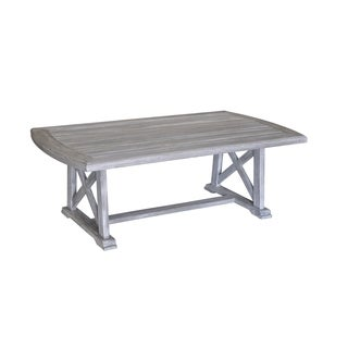 Courtyard Casual Driftwood Gray Teak Surf Side Outdoor Dining Table