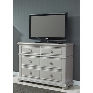 Summer House II Washed Gray Media Chest