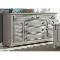 Summer House II Washed Gray 2 Door 5 Drawer Dresser