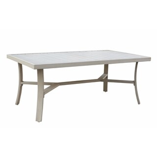 Courtyard Casual Camel Torino Aluminum Outdoor Rectangle Coffee Table