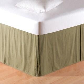 Copper Grove Taweel Mini Green Plaid Queen Bed Skirt
