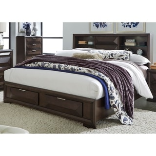 Newland Cappuccino Transitional Storage Bed Set