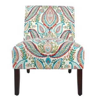 HomePop Carson Armless Accent Chair - Bold Paisley