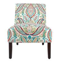 Porch & Den Los Feliz Clayton Bold Paisley Armless Accent Chair