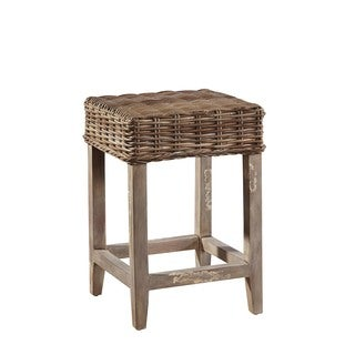 Coquina Handwoven Rattan Counter Stool