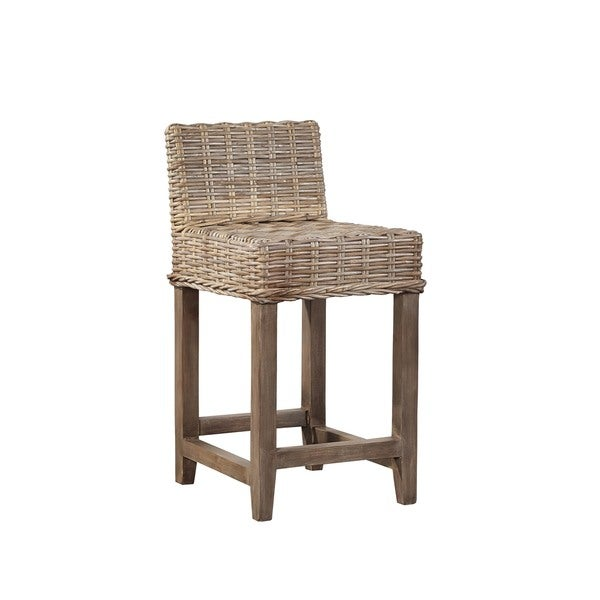 Auger Handwoven Rattan Counter Stool