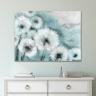 Portfolio Canvas Decor Watercolor Wishes Teal Canvas Wall Art