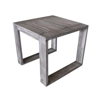 Havenside Home Mamaroneck Grey Teak Outdoor Side Table