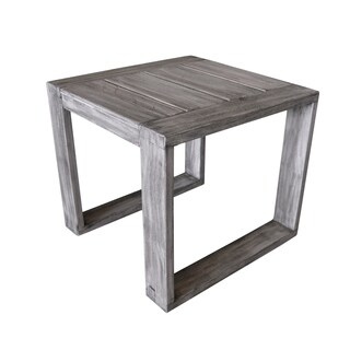 Courtyard Casual Driftwood Gray Teak North Shore Outdoor Side Table