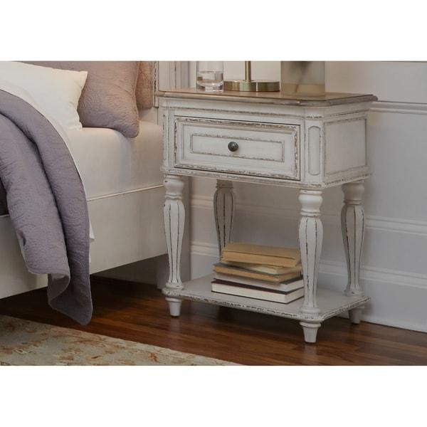 Shop Magnolia Manor Antique White Leg Nightstand On Sale