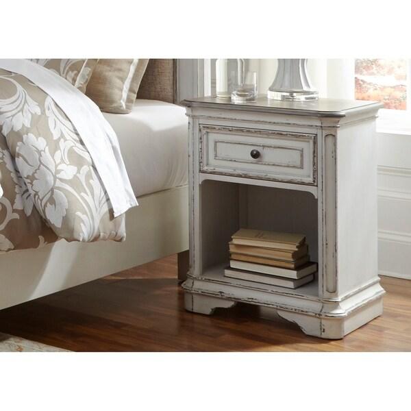 Magnolia Manor Antique White 1-Drawer Nightstand